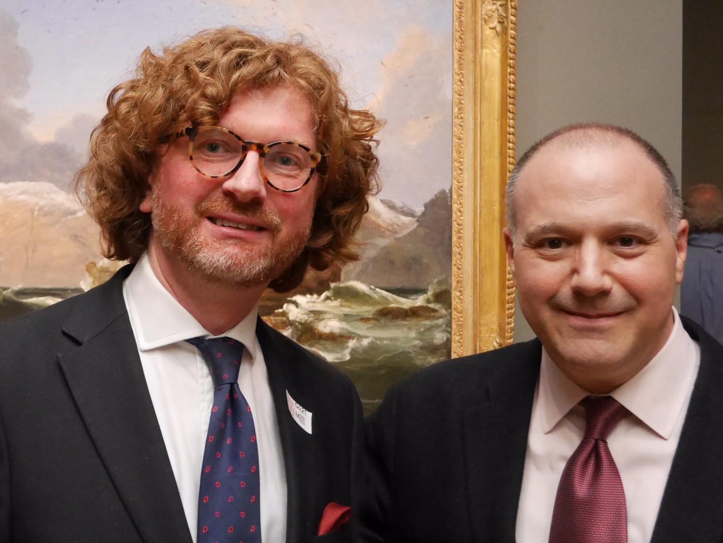 Knut Ljøgot and Aston Miller at Peder Balke in The Met